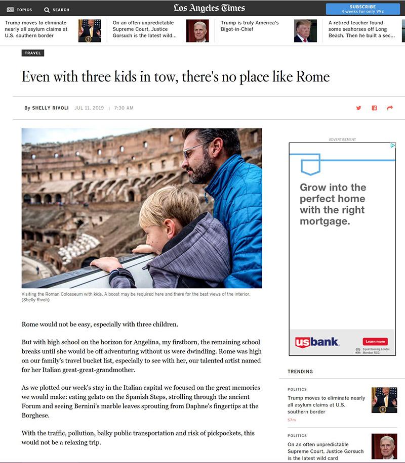 Rome with kids travel story by Shelly Rivoli