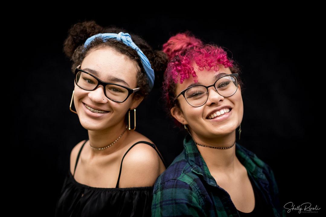 fine art student portrait of siblings