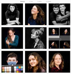 Instagram stream of portraits
