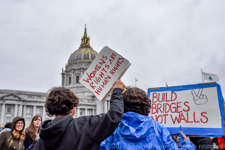 children at Women's March San Francisco 2017