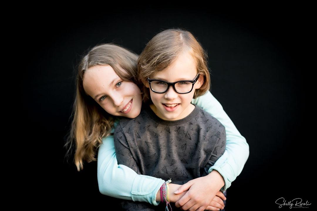 portrait of siblings by Shelly Rivoli