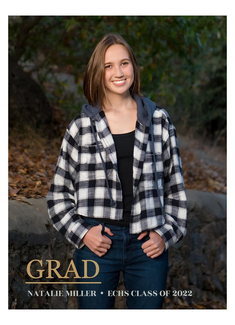 graduation announcment senior portrait