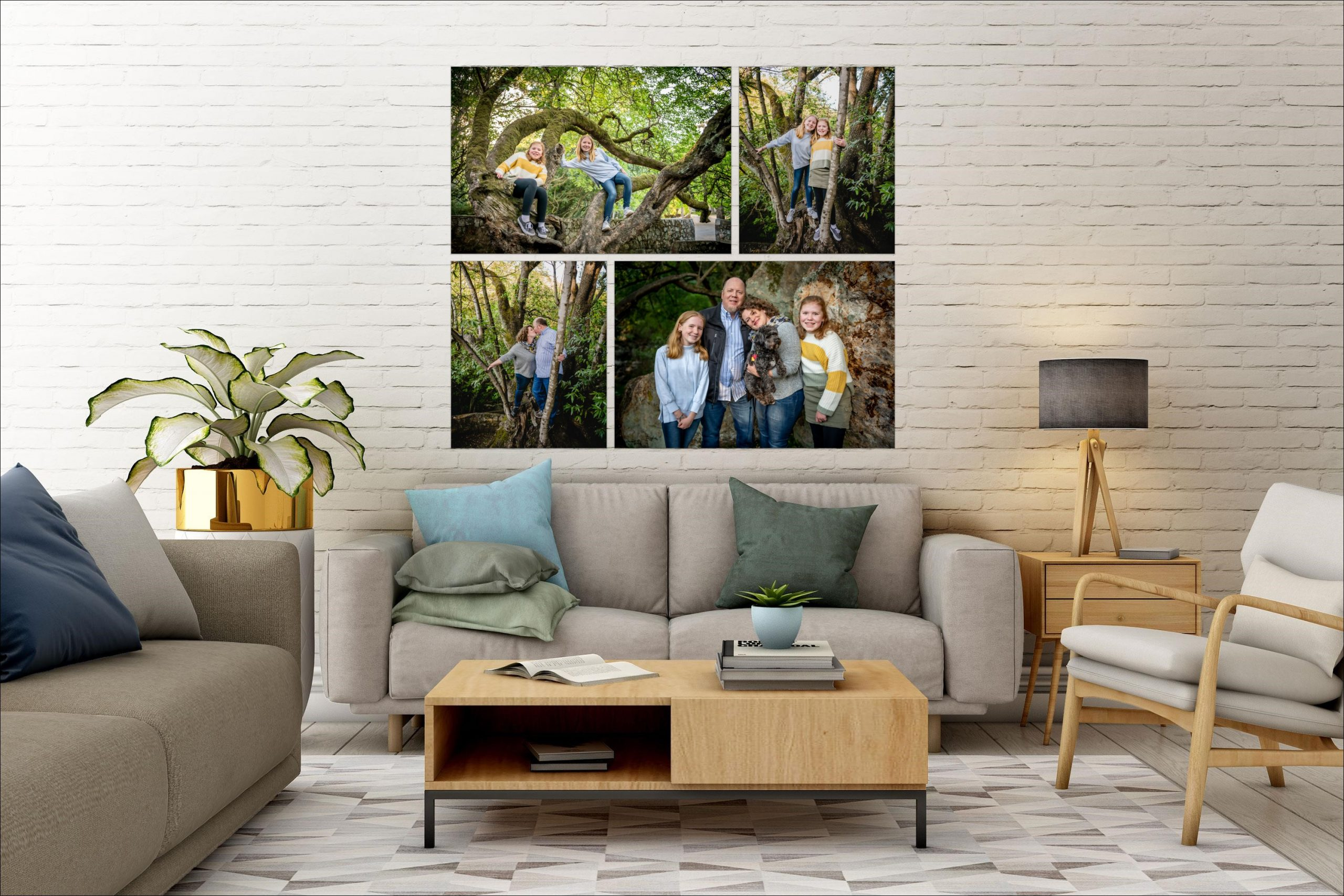 family portraits in East Bay living room